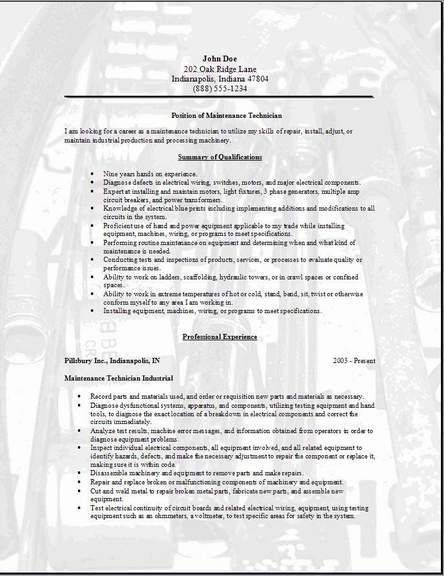 professional facility lead maintenance templates to. resume ...