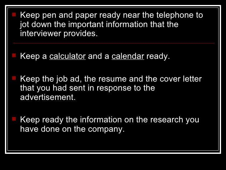 telephone interviewer resumes