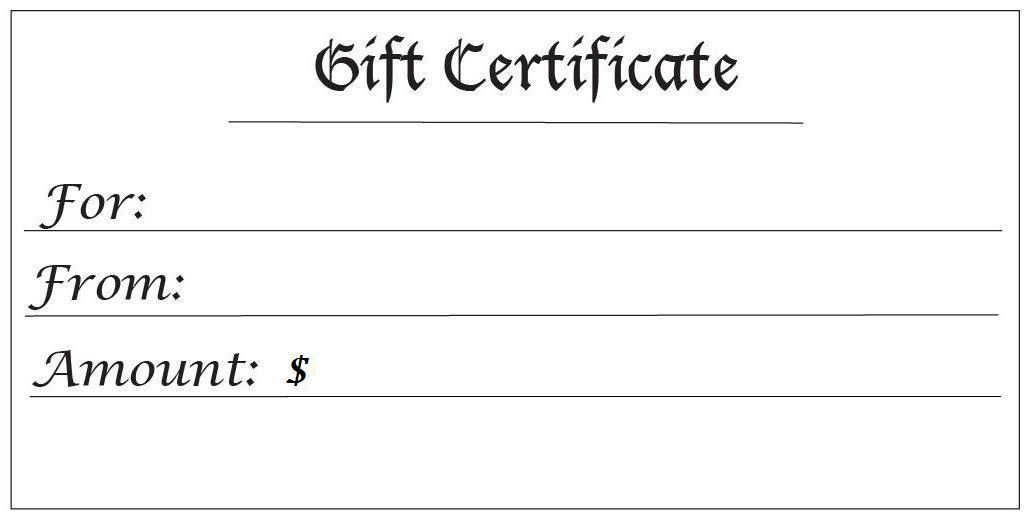 Gift Certificate Templates - free printable gift certificates for ...