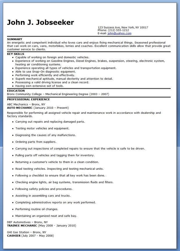 7 best Industrial Maintenance Resumes images on Pinterest ...