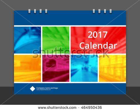 Desk Calendar 2017 Font Cover Design Stock Vector 464950436 ...