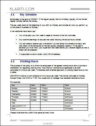 Employee Manual Template Free. policy handbook template virtren ...