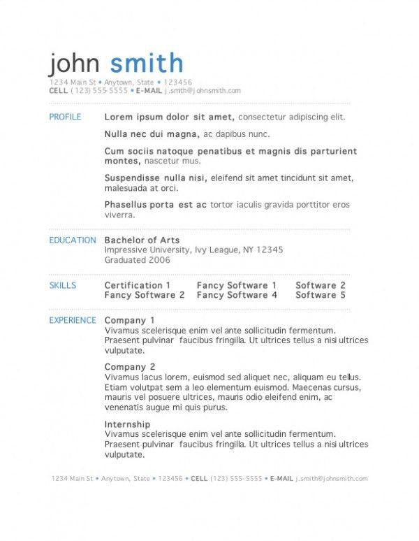 The Best Resume Templates Available | Top Design Magazine - Web ...