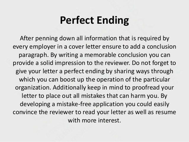 Download Good Way To End A Cover Letter | haadyaooverbayresort.com