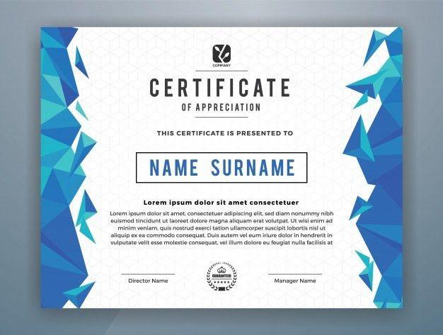 Multipurpose Modern Professional Certificate Template Design for ...