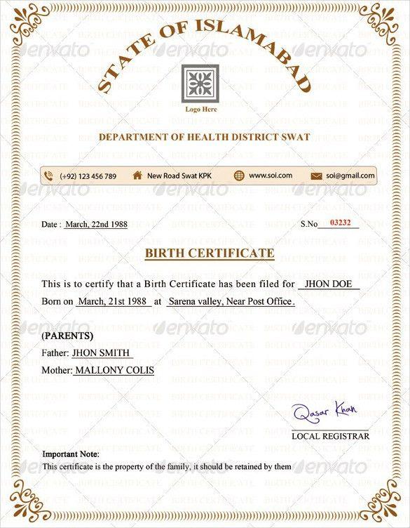 Blank Birth Certificate Form [Nfgaccountability.com ]