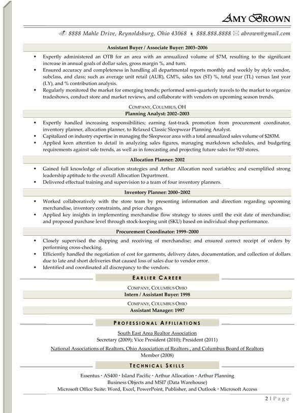 Retail Resume Examples - Resume Professional Writers