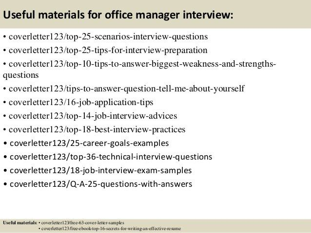 Top 5 office manager cover letter samples