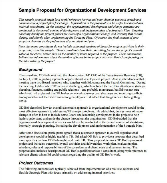 Sample Service Proposal - 6+ Documents in PDF, Word