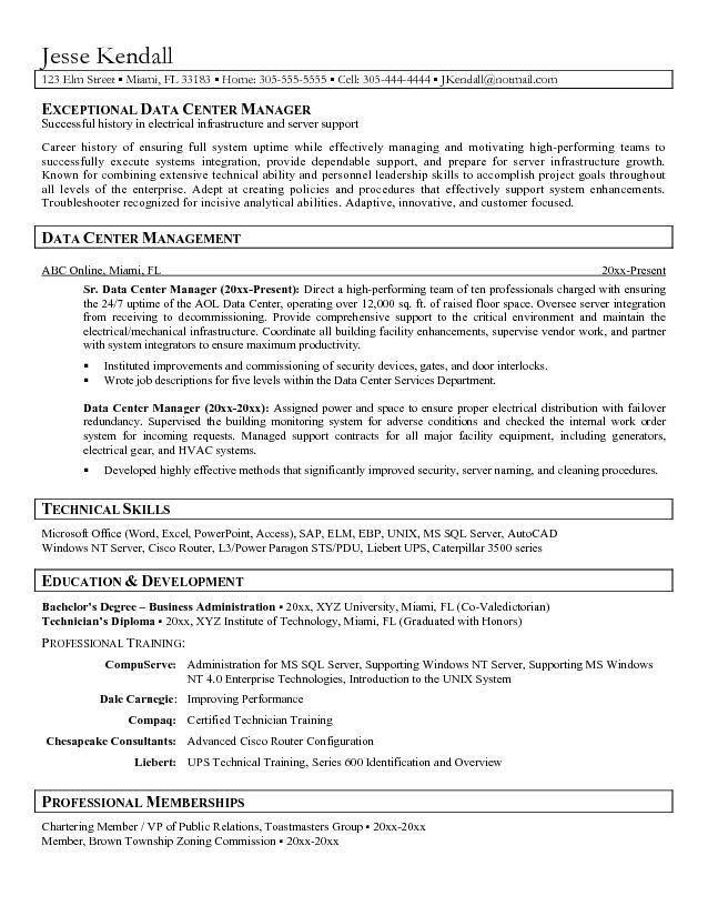 Data Center Administrator Resume - Data Center Administrator ...