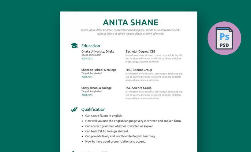 Best Resume Templates MS Word, PSD, AI | Resummme