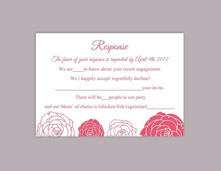DIY Wedding RSVP Template Editable Word File Download Rsvp ...