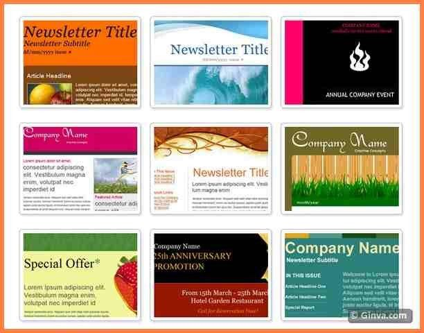 7+ microsoft outlook newsletter templates | Newsletter Template
