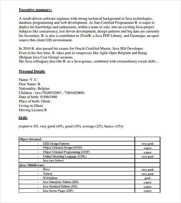 sample java resume image gallery of opulent ideas ui developer ...