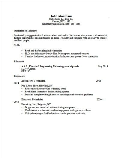 Career Services - Sample Resumes
