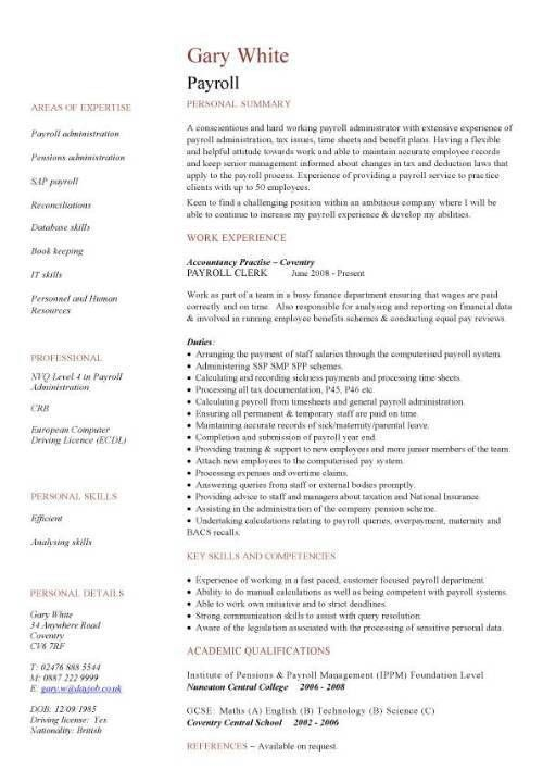 Download Payroll Clerk Resume | haadyaooverbayresort.com