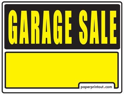 Garage Sale Signs - Free, Printable and Downloadable