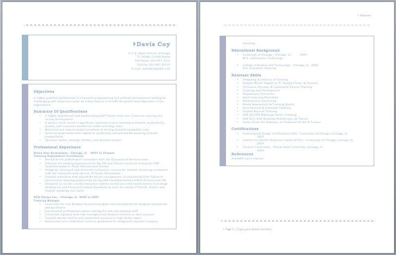 SAP Trainer Resume – Sample Resumes
