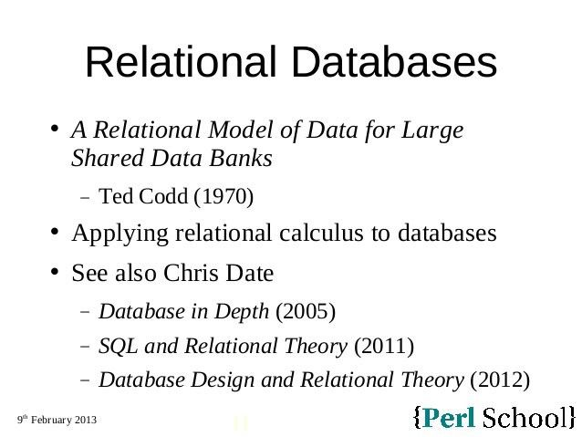 Database Programming with Perl and DBIx::Class