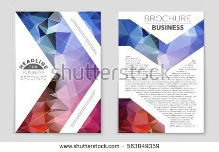 Abstract Vector Layout Background Set Art Stock Vector 563825278 ...
