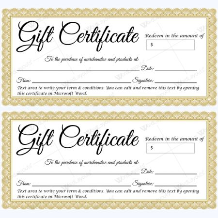 Gift Voucher Templates – Fill in Your Details or Print Blank Vouchers