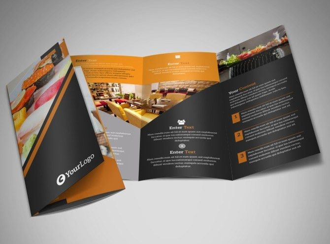 Outstanding Sushi Restaurant Brochure Template | MyCreativeShop