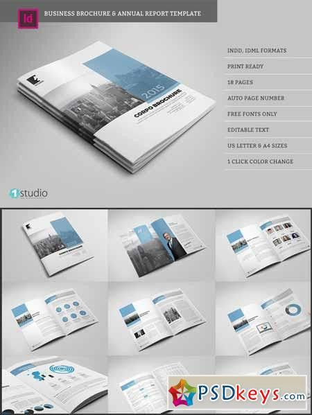 Business Brochure Annual Report 578119 » Free Download Photoshop ...