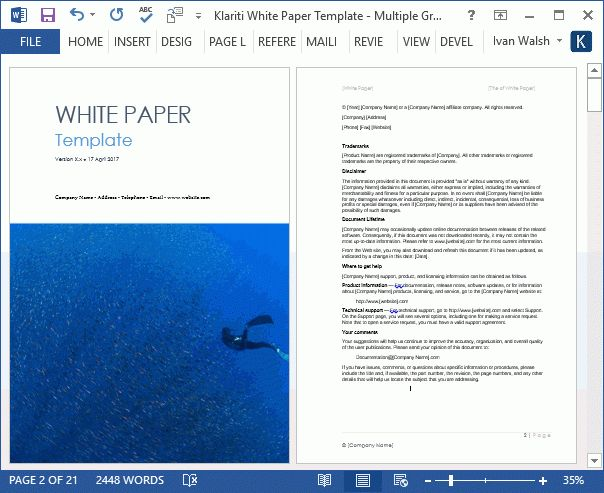 White Papers - MS Word templates & free tutorials