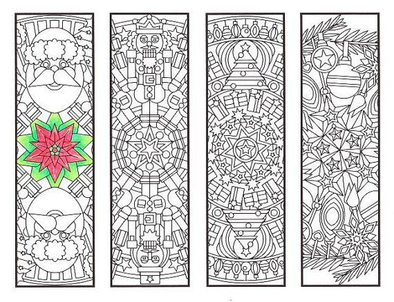 Christmas Coloring Bookmarks Christmas Mandalas coloring
