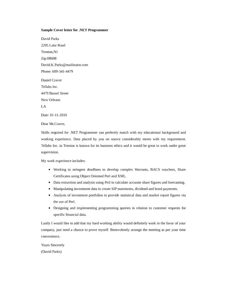 php developer cover letter example. web development cover letter ...
