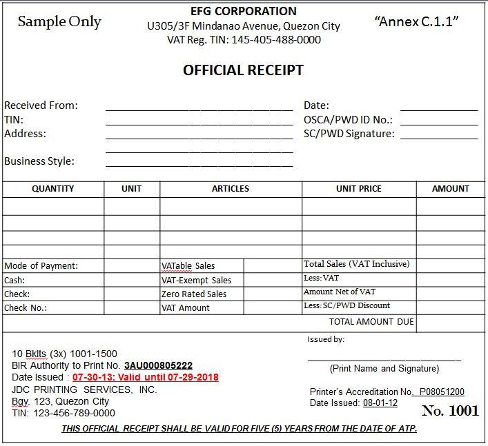 BIR: BIR's New Invoicing Requirements effective June 30, 2013