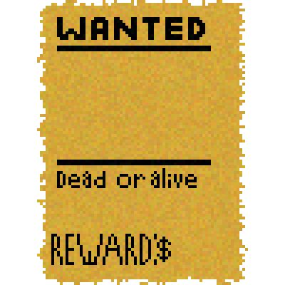 piq - Blank wanted Poster Template | 100x100 pixel art by _FrenchFry_