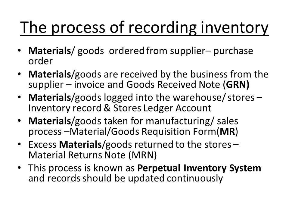 Inventory What is inventory, how is it classified, valued and ...