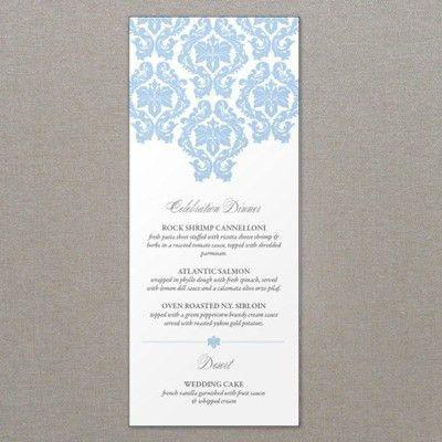French Damask Wedding Menu Template – Download & Print
