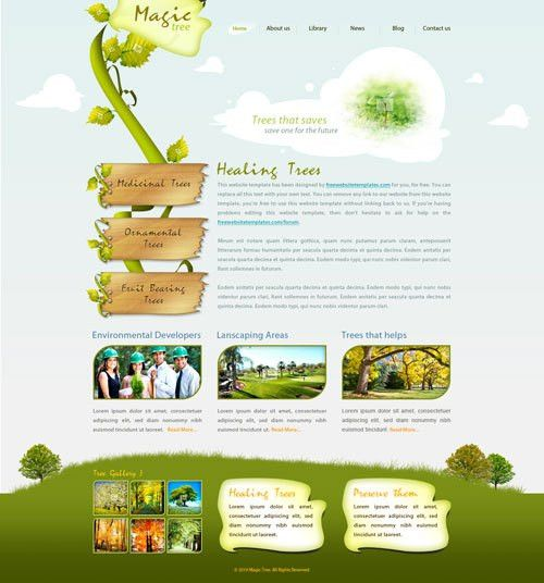 Magic Tree: an environmental website template | Free Website Templates
