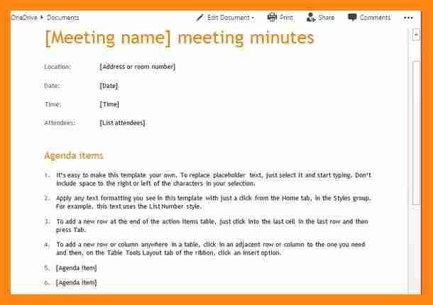 8+ format of minutes of meeting in word | graphic-resume