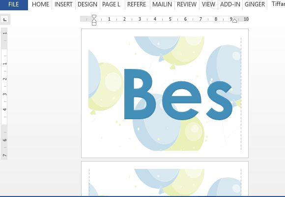 How To Create Best Wishes Banner Using MS Word