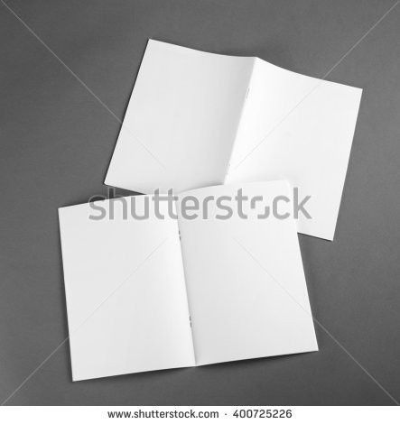 Blank Template Trifold Square Brochure Stock Illustration ...