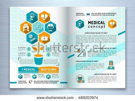 Design Medical Brochure Template A4 Size Stock Vector 489203974 ...