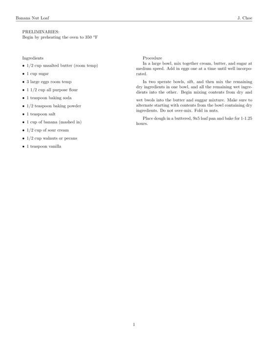 Recipe - LaTeX Template - ShareLaTeX, Online LaTeX Editor