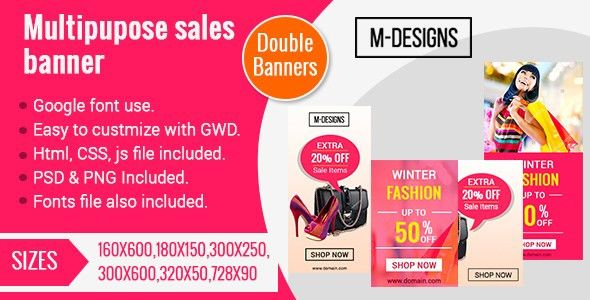 HTML5 Sales Banner Ad Templates(Two Banners) by anil29design ...
