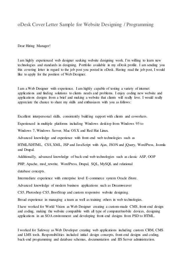 Web Developer Cover Letter. Classic Asp Developer Cover Letter ...