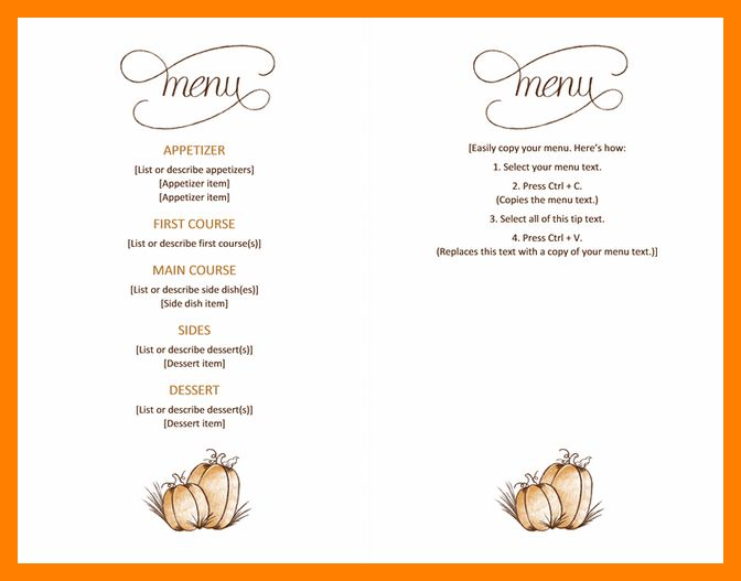 8+ word menu templates | producer resume