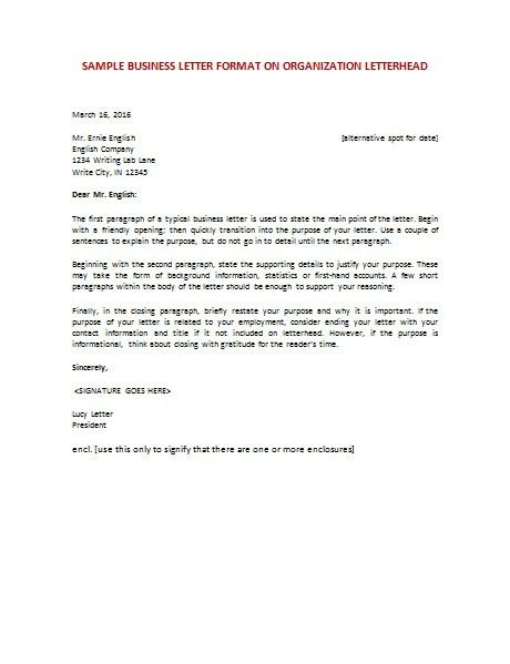 English Business Letter Sample | The Best Letter Sample
