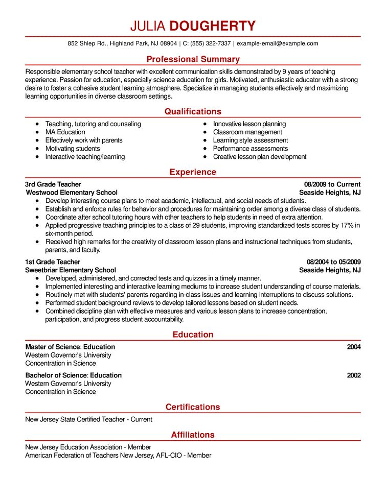 Pleasant Design Ideas Sample Of Resumes 4 Best Resume Examples For ...