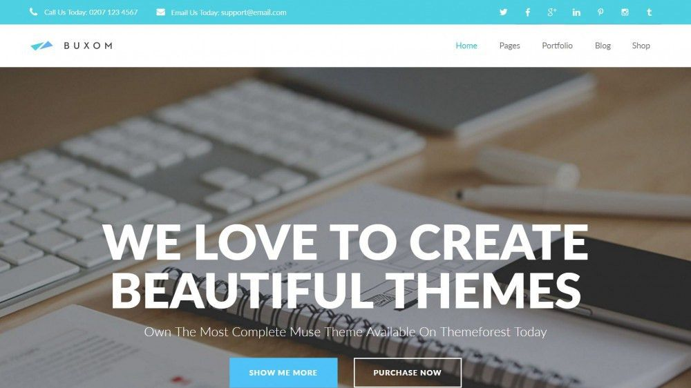 25+ Best Creative Business Portfolio Adobe Muse Templates