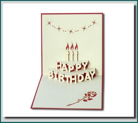Birthday Cake - In 3d Pop-up Greeting Card - Buy Pop Up Greeting ...