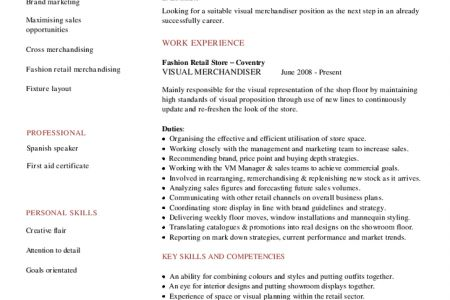 Example Merchandiser Resume Free Sample, Merchandiser Resume ...