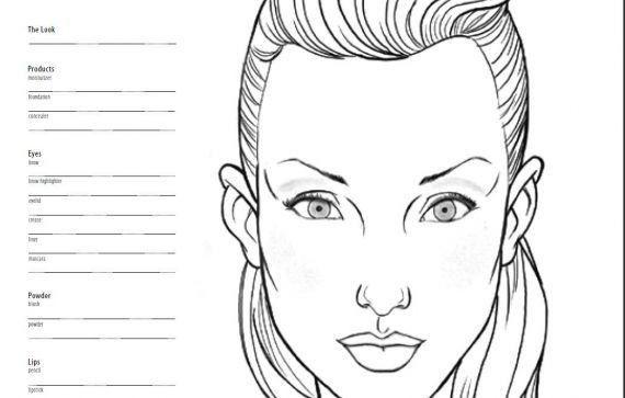 Free Printable Blank Makeup Face Charts - Mugeek Vidalondon