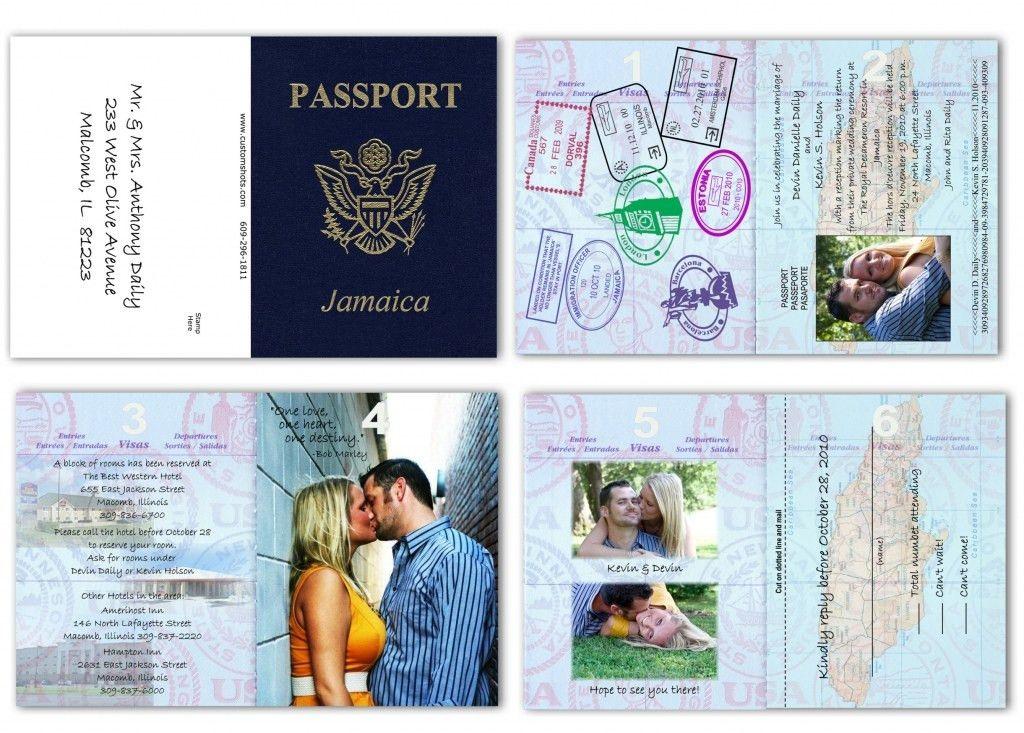 Wedding Passport Template - Contegri.com